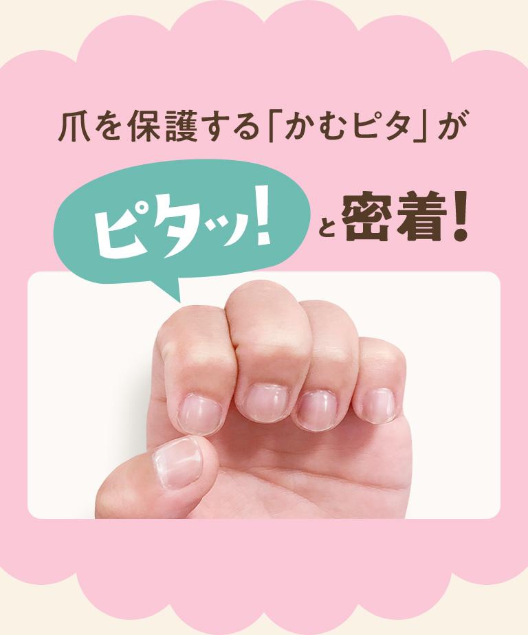 爪を保護する「かむピタ」がピタッ!と密着!